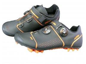 Cyklistické tretry KTM Factory Team MTB Carbon 3D Black/orange