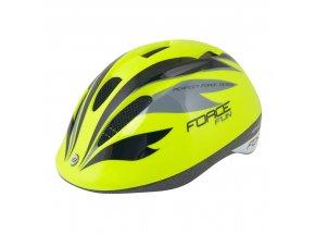 Dětská helma na kolo Force Fun Stripes Fluo/black/grey