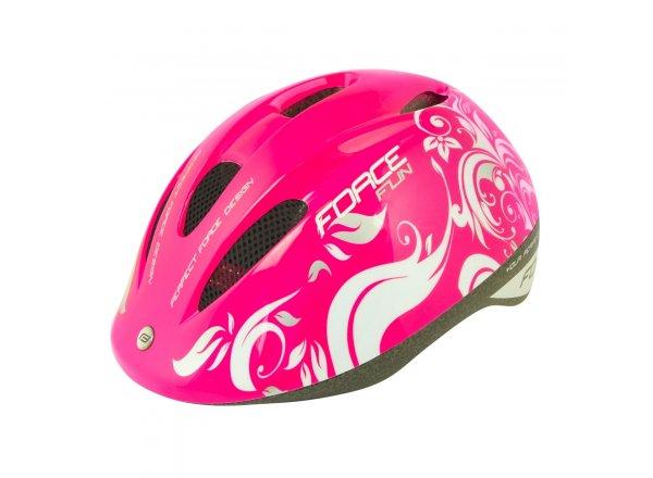Dětská helma na kolo Force Fun Stripes Pink/white/grey