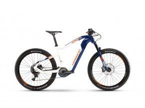 Elektrokolo Haibike XDURO AllTrail 5.0 i630Wh FLYON 2020 Modrá/bílá/oranžová