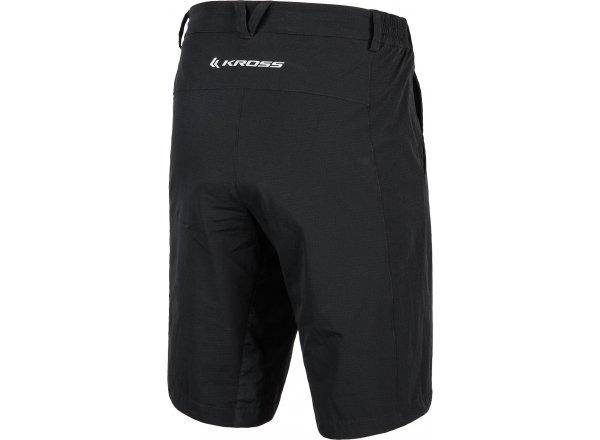 Cyklistické šortky KROSS LOGGER volné Black