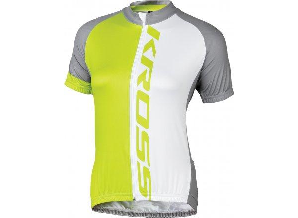 Dámský cyklistický dres KROSS FLOW LADY Lime/white