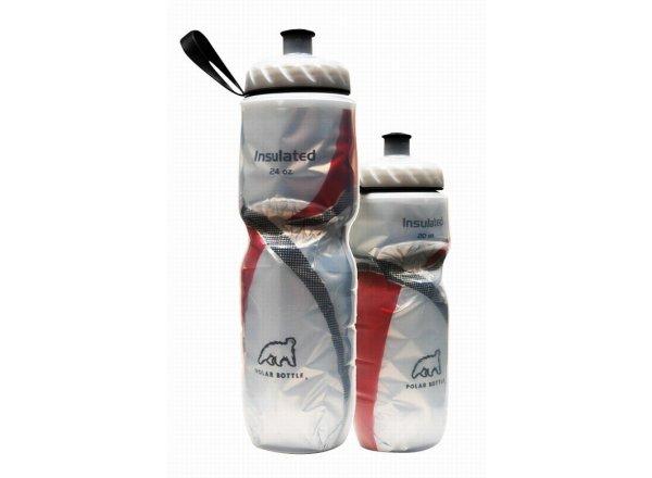 Cyklistická láhev POLAR BOTTLE Insulated 0,6l RED STRIPE