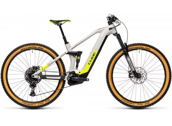 Elektrokolo CUBE STEREO HYBRID 140 HPC Race 625 29 2021 grey´n´yellow