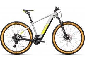 Elektrokolo CUBE REACTION HYBRID PRO 500 29 2021 grey n yellow