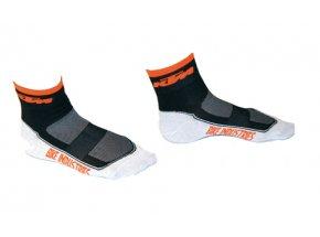 Ponožky KTM Carbon Black/orange/white