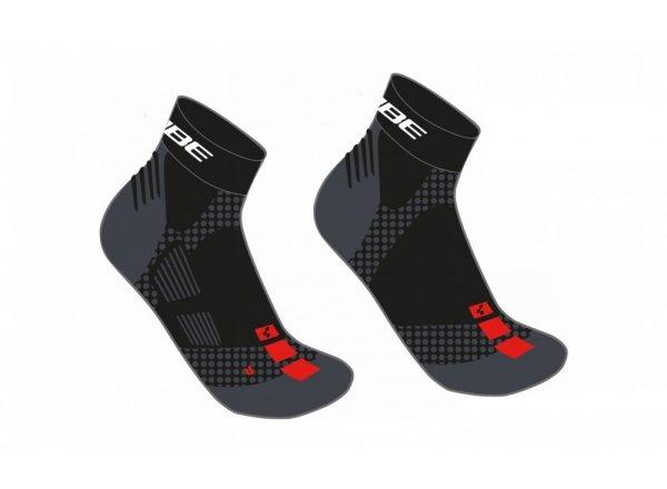 Ponožky CUBE Race Cut Black/red